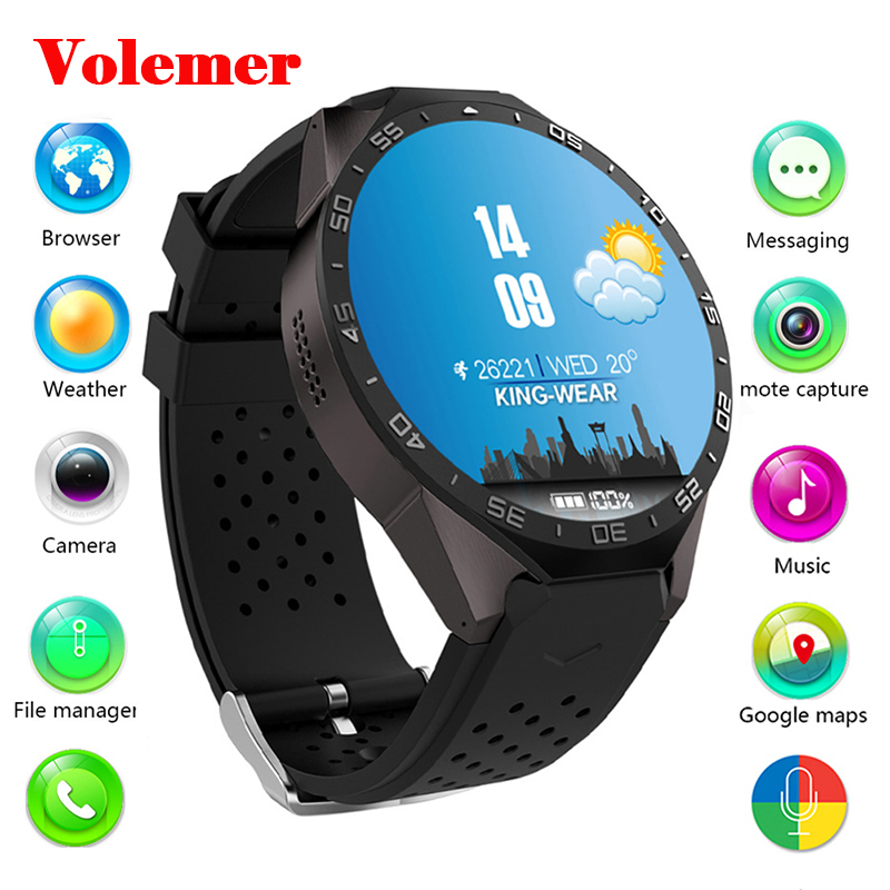 Volemer 3G Android Bluetooth Smart Watch Quad Core 1.3GHZ WIFI GPS 2.0MP camera smartwatch for iphone Xiaomi huawei phone watch цена