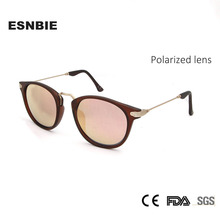 ESNBIE Fashion Unisex Sun Glasses For Women Polarized Mens Sunglasses Coating Mirror Oculos De Sol Feminina Vintage Eyewear