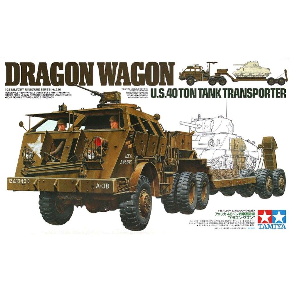 OHS Tamiya 35230 1/35 Dragon Wagon US 40 Ton Tank Transporter Assembly AFV Model Building Kits