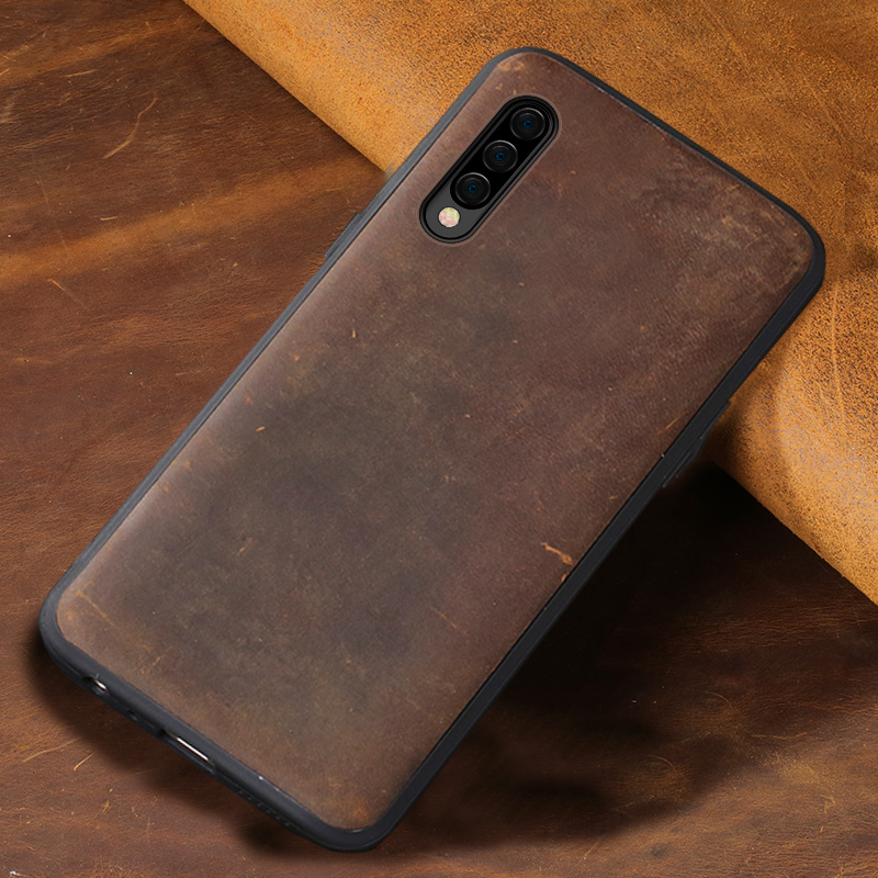 Natural PULL-UP leather case For samsung Galaxy a50 a70 a30 a10 a40 a8 a7 2018 back cover For s10 s9 s7 s8 Plus Note 10 Plus 8 9