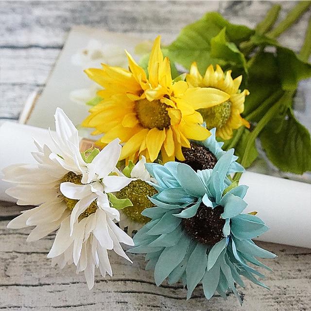 1bundle Silk Sunflower Bride Bouquet For Home Wedding Christmas