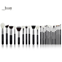 Jessup Black/Silver Professional Makeup Brushes Set Make up Brush Tools kit Foundation Powder Blushes natural-synthetic hair