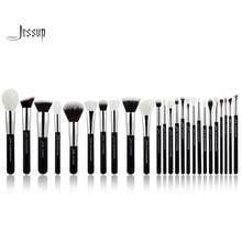 Jessup Black/Silver Professional Makeup Brushes Set Make up Brush Tools kit Foundation Powder Blushes natural-synthetic hair