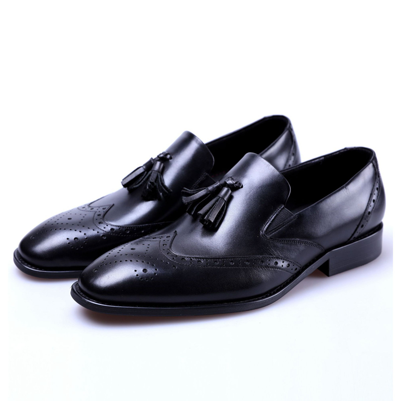 Size 37-44 Mens Slip On Loafer Pointed Toe Real Leather Oxford Formal Business Casual Comfortable Dress Formal Shoes JS-A0096Size 37-44 Mens Slip On Loafer Pointed Toe Real Leather Oxford Formal Business Casual Comfortable Dress Formal Shoes JS-A0096