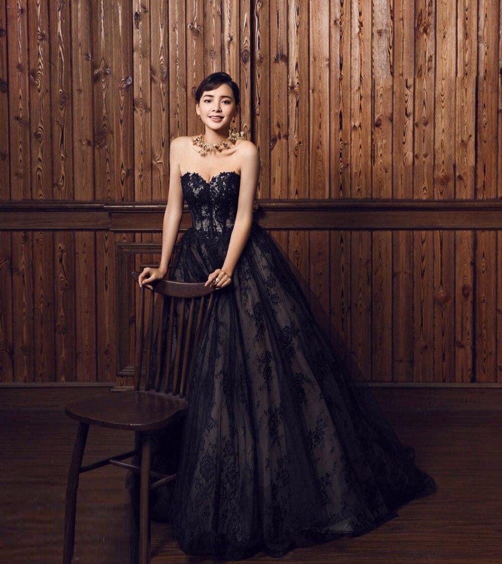 a20abb843124 Vestido de noiva new Vintage Lace Gothic Nero Madre del Vestito Da Sposa  Corsetto Senza Spalline Due Tonica Colorati Abiti Da Sposa in Vestido de  noiva new ...
