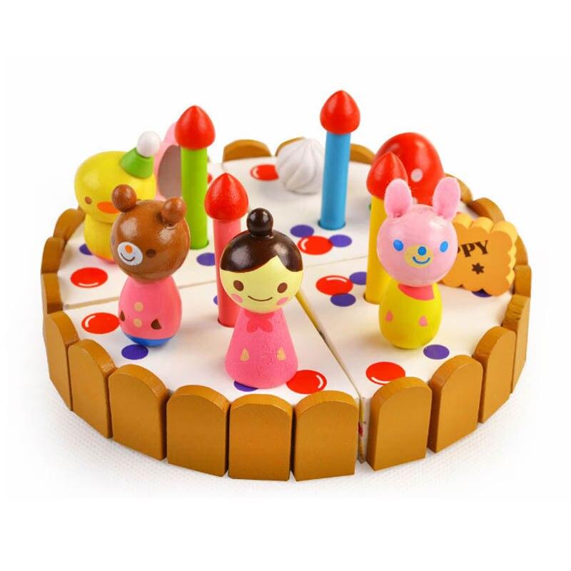Детские развивающие diy ролевая Игрушечные лошадки Прекрасный Деревянный на день рождения Кейт ...