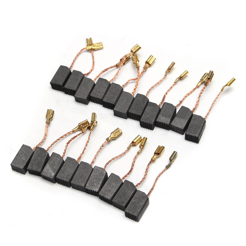 20pcs/Set 13.6 X 7.8 X 6.1mm Motor Carbon Brushes Wire Leads Generator For Dewalt 100mm Angle Grinder Electric Motor Replacement