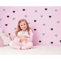 72 하트/세트 심장 벽 데칼 DIY 벽 스티커 아이 벽 스티커 2 색상 마음에 데칼 아기 방 장식 보육 비닐