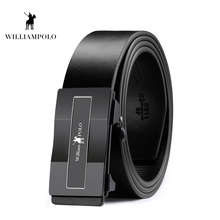 Williampolo 2019 Men Leather Belt Fashion Designer Brand Luxury High Quality Automatic Bucklet PL18301-02P