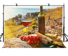 7x5ft Grape Wine Backdrop Sunshine Goblet Photography Background and Studio Props