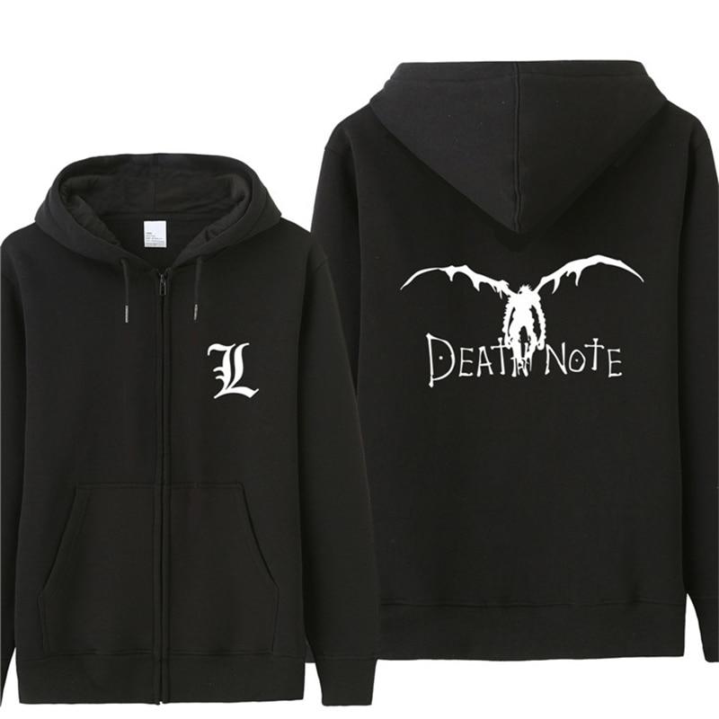 Japanese Anime Death Note Men Hoodies Shinigami Printed Cool Casual Loose Design Brand Man Hoodie Boy Coat Jacket ST-607
