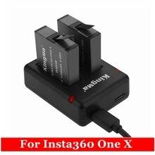 2019 neue 2Pcs 1150mAh One X Aufladbare Batterie + Micro/Typ C Port Dual Ladegerät Für insta360 One X Kamera Zubehör
