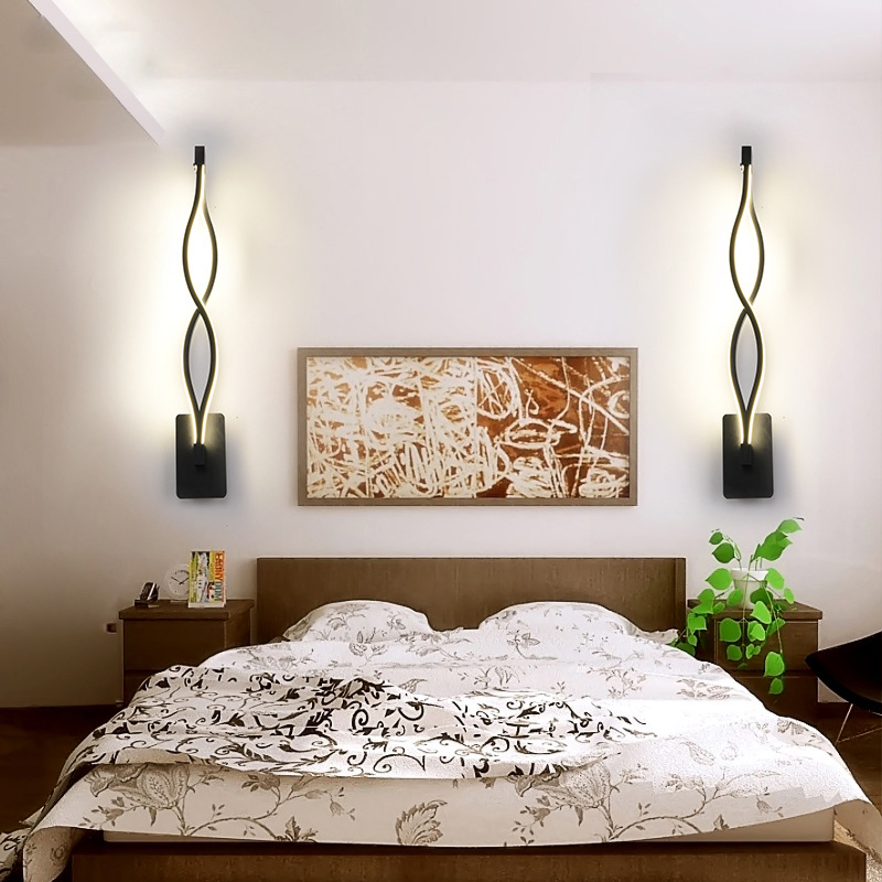 16w 12w Wall Lamp Modern Bedroom Beside Reading Wall Light 85-265v Indoor Living Room Corridor Hotel Room Lighting Decoration