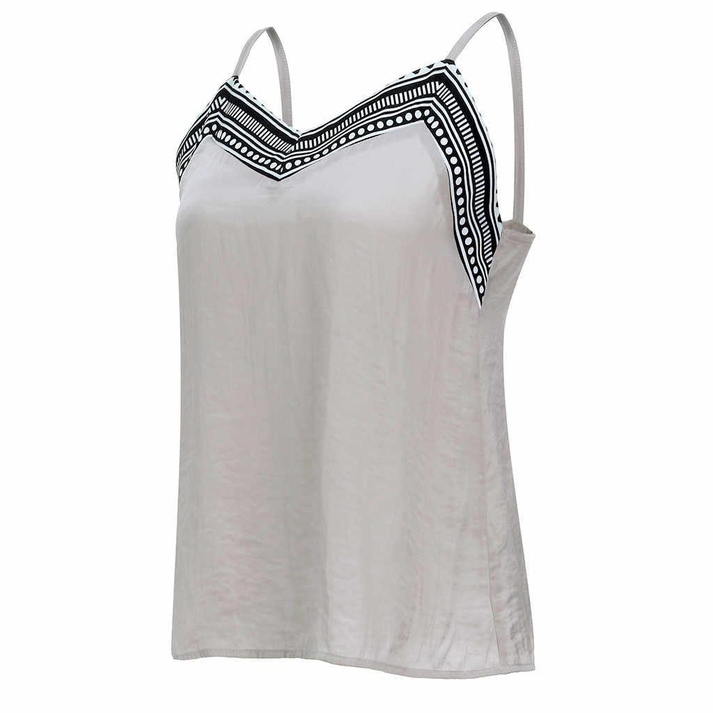 Letnie odświeżające podkoszulki bez rękawów V Neck Wrap przód plisowane Cami Vintage koszule na co dzień bluzka Dames Kleding *