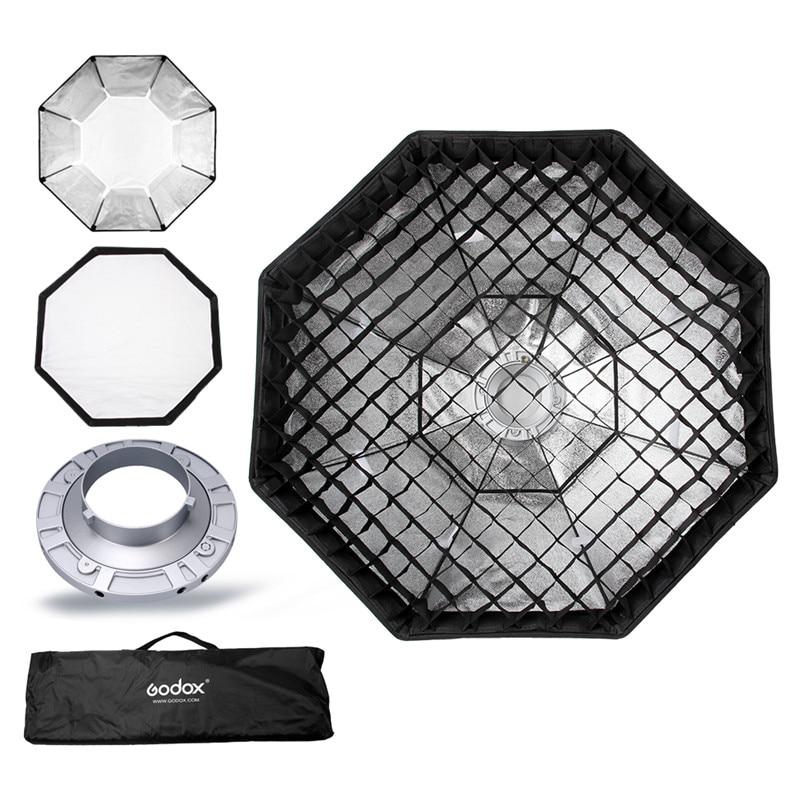 Godox Softbox 120cm 47 Octagon Honeycomb Grid Softbox soft box with Bowens Mount for Studio FlashSoftbox