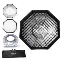 "Godox Softbox 120cm 47"" Octagon Honeycomb Grid Softbox soft box with Bowens Mount for Studio Flash"