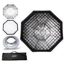 """Softbox Godox Caja blanda de rejilla de nido de abeja, octagonal, 120cm, 47 """", con soporte Bowens para Flash de estudio"""