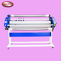 Wide Format 160Cm Pneumatic & Electric Roller Cold Glue Paper Film Roll To Roll laminator Machine With Cutter
