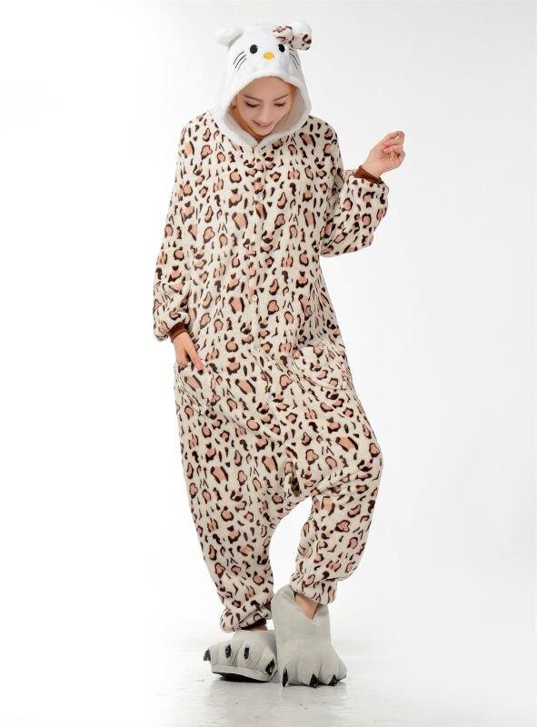 Muški dame crtani leopard Onesies za odrasle pidžame Onsie Pidžame - Ženska odjeća - Foto 5