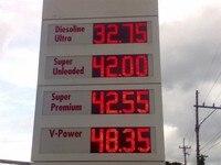 Ekran Led stacji benzynowej znak benzyna olej pirce temperatura czas humdity doprowadziły znak
