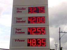 Светодиодная вывеска бензин АЗС экран нефть Pirce температура время humdity светодиодная вывеска