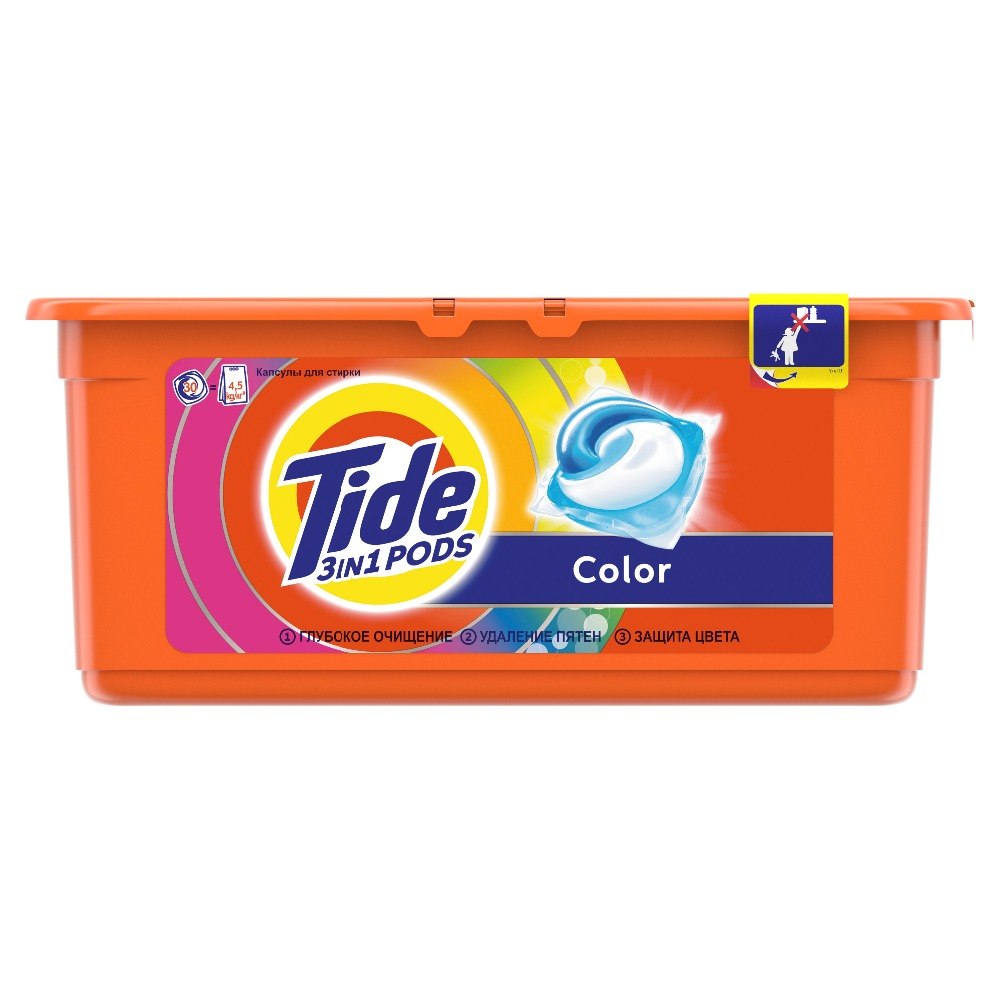 Washing Powder Capsules Tide Color Pods (30 Tablets) Laundry Powder For Washing Machine Laundry Detergent