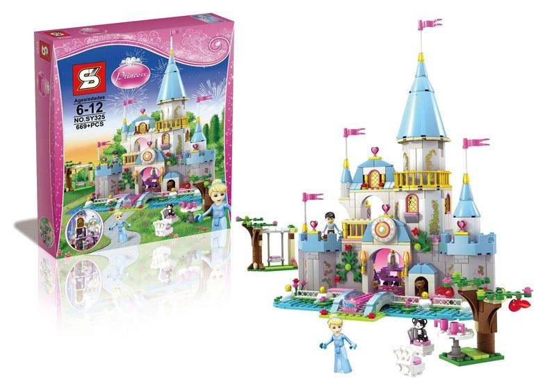 ФОТО 2016 latest Girl Friends SY325 Disni Princess Cinderella's Romantic Castle and Cinderella tower s building block