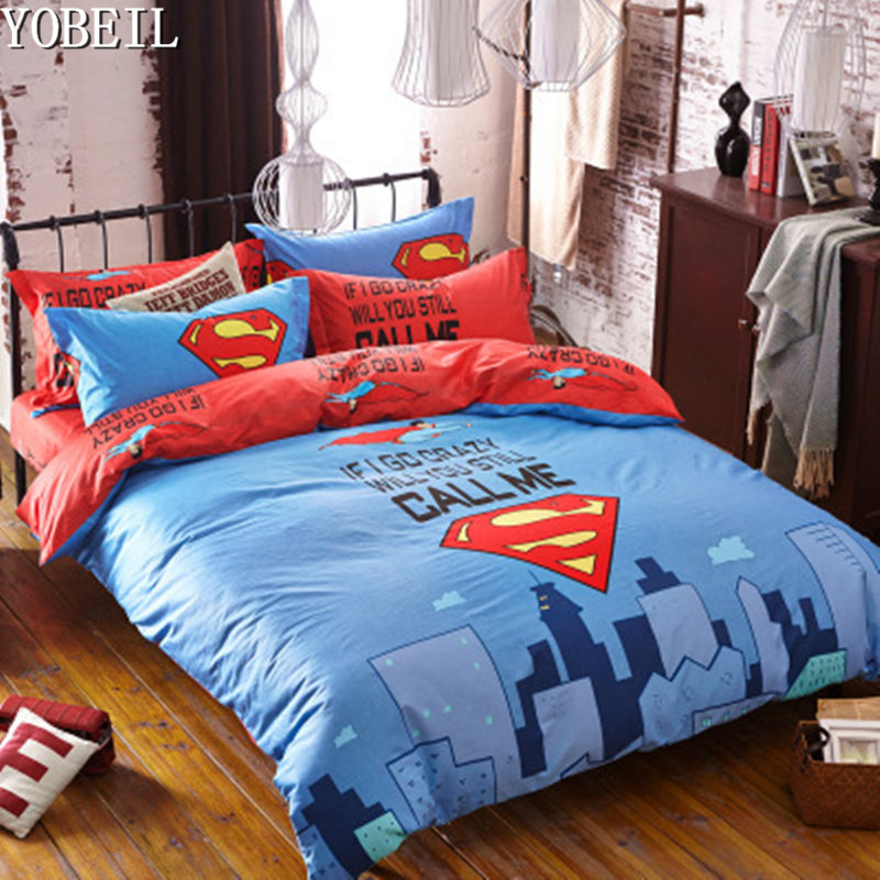 Cartoon 3d Bedding Set Mouse Superman Printed for Kids ...
