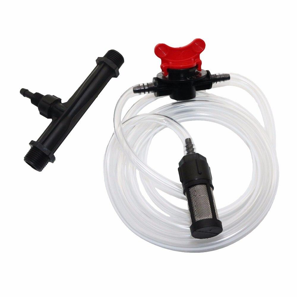 1/2 Pouces 3/4 Pouces Filetage Mâle Automatique Venturi Engrais Injecteurs Kits D'irrigation Venturi Tube Contrôle Du Débit Commutateur Maille