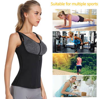 VASLANDA Women Waist Trainer Sauna Sweat Vest Slimming Tank Tops Tummy Control Body Shaper Workout Shapewear Underbust Corset 10