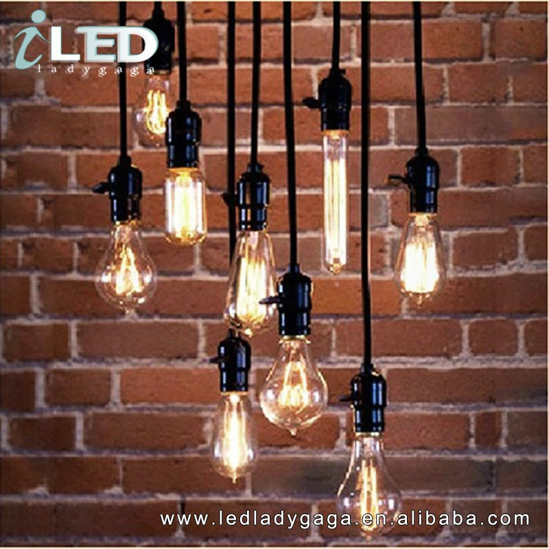 Aliexpress Buy 110V 220V 100cm Cord US Industrial Light Vintage Rustic Edison Lamp Home Living Room Dinning E26 E27 Chandelier From