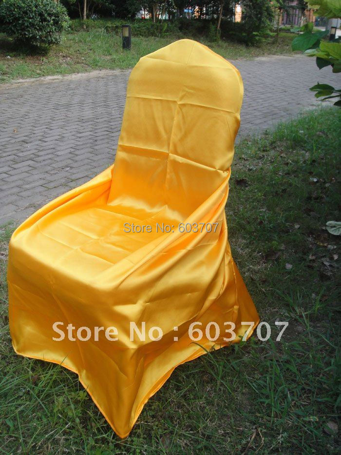 Spandex Folding Chair Covers Canary Yellow 62916 1pc Pk