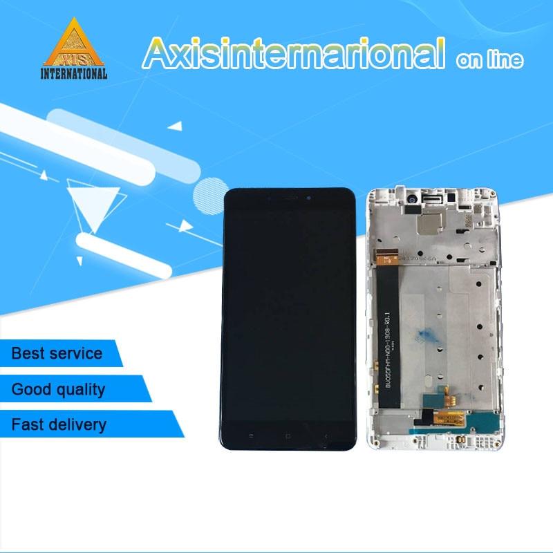 Axisinternational Für Xiaomi Redmi hinweis 4X MediaTek MTK Helio X20 4 gb 64 gb LCD screen display + touch panel digitizer mit rahmen
