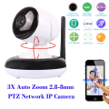 "HI3518C+1/3"" AR0130 low lux CMOS Home IP Dome Camera HD 960P 3X 2.8-8mm Auto Zoom lens WIFI PTZ IP Camera IR cut Onvif SD Card"