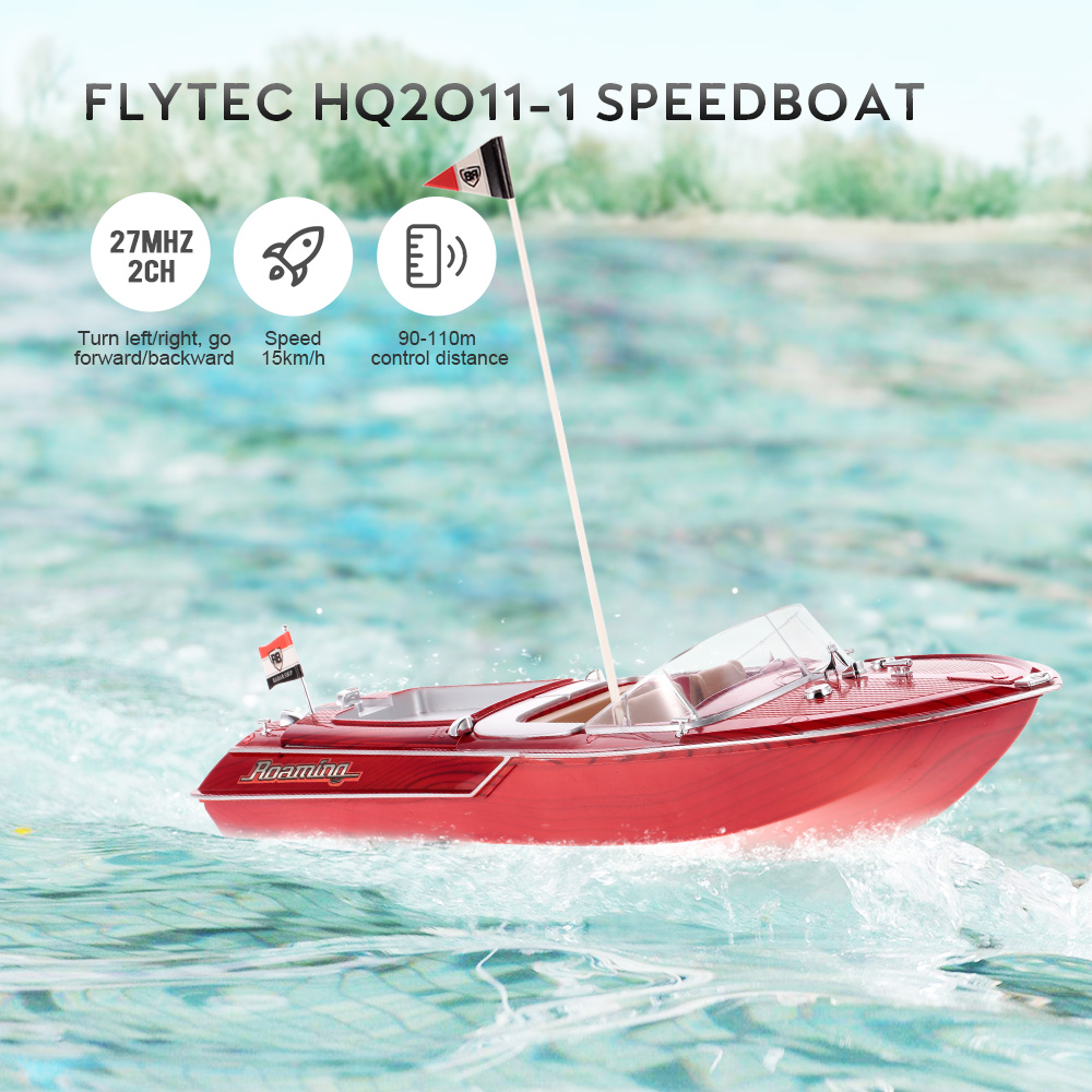 Flytec HQ2011 1 27MHz 2CH 15km/h High Speed Boat Electric RC Ship Fishing Adventure Lure Bait Boat