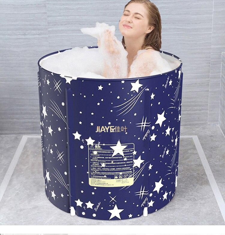 Haute qualité Portable pliable en plastique baignoire épaissie adulte baignoire maison unique SPA Massage piscine robuste seau de bain