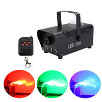 fast shipping disco colorful smoke machine mini LED remote fogger ejector dj Christmas party stage light fog machine