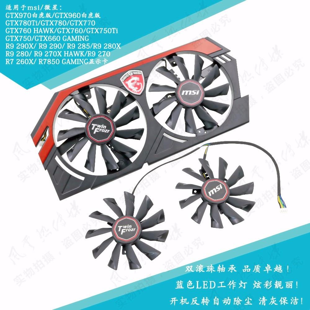 Nuevo Original para MSI GTX780Ti/780/760/750Ti R9 290X/290/280X/280/ 270X tarjeta gráfica ventilador PLD10010B12HH PLD10010S12HH