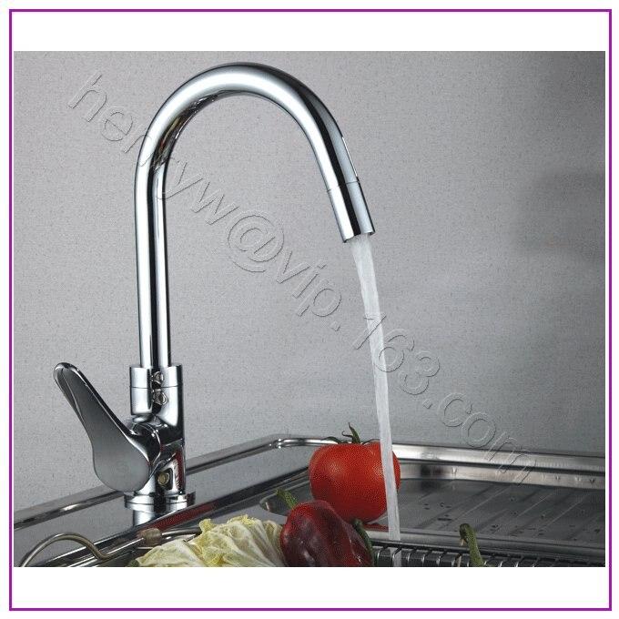 L16567-Роскошные бортике хромированная отделка латунь Кухня раковина - Цвет: Светло-серый