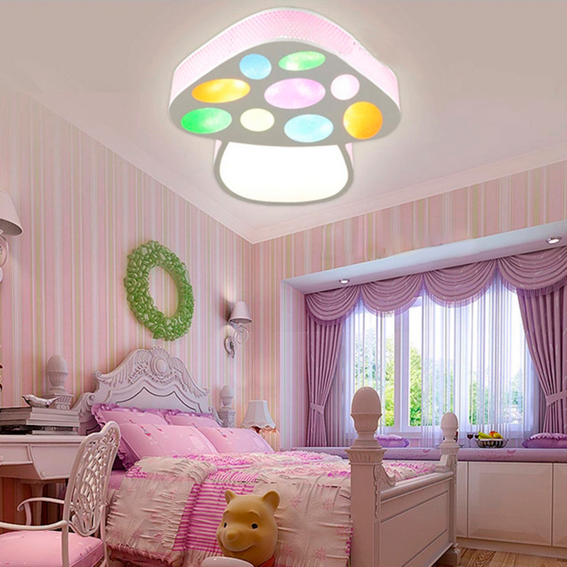 2017 New Colorful Mushrooms Led Ceiling Light Bedroom ...