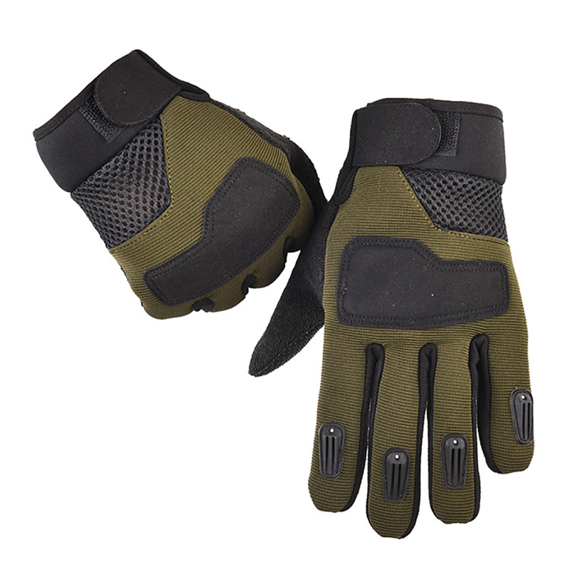 1 Pair Men\'s Tactical Army Hike Gloves Full Finger Winter Warm Bike Gloves Camping Hiking Outdoor Sports Anti-slip Glove