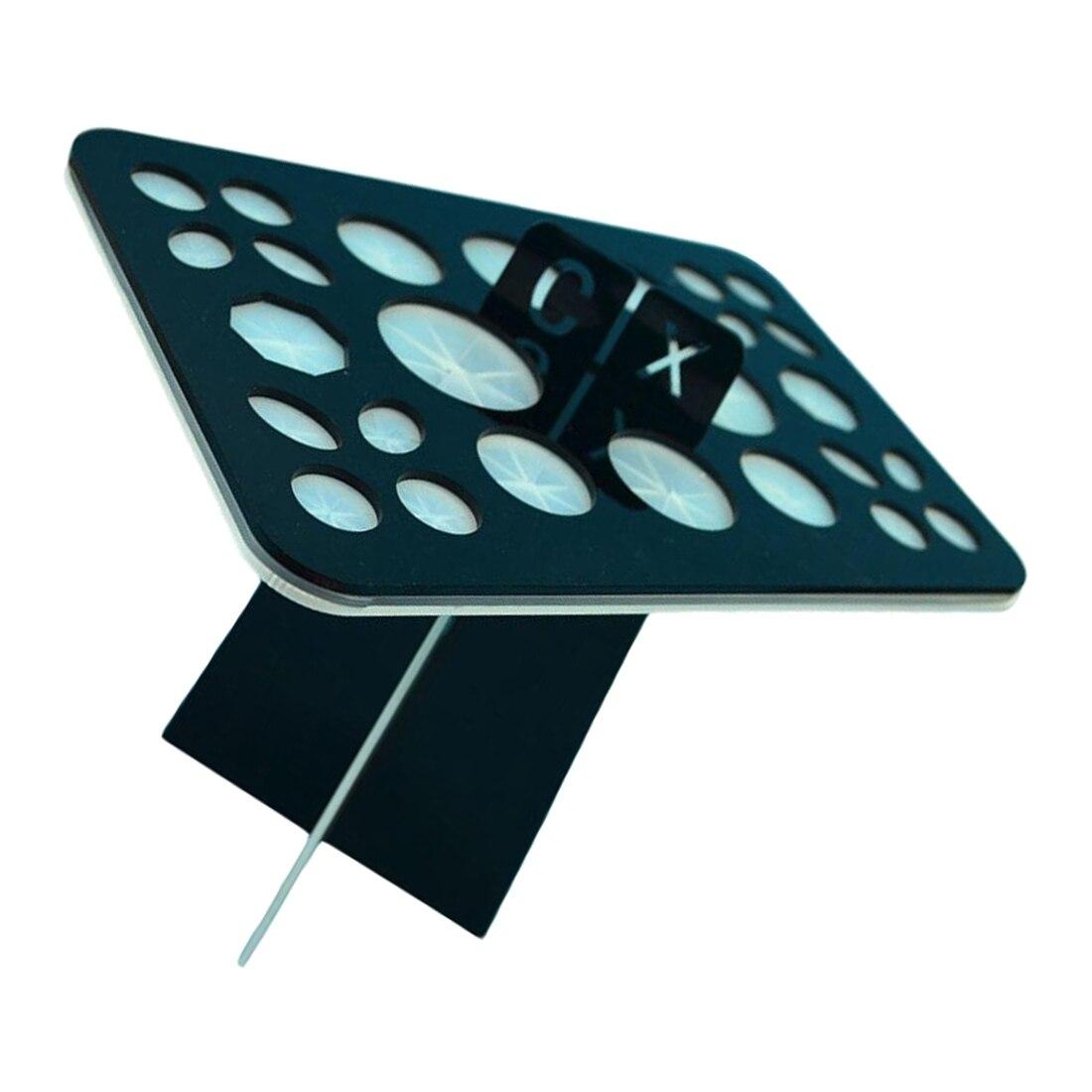 YOST-Acrylic Makeup brush drying rack dry brush holder (Black + White) puff drying holder 2pcs