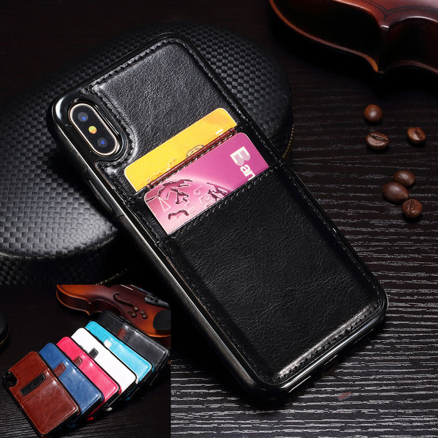 coque cuir iphone x carte bancaire
