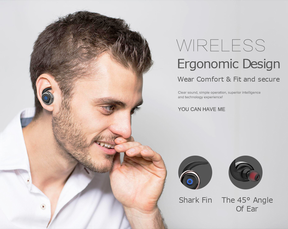 Person - AWEI T1 TWS Bluetooth Earphone Mini Bluetooth V4.2 Headset