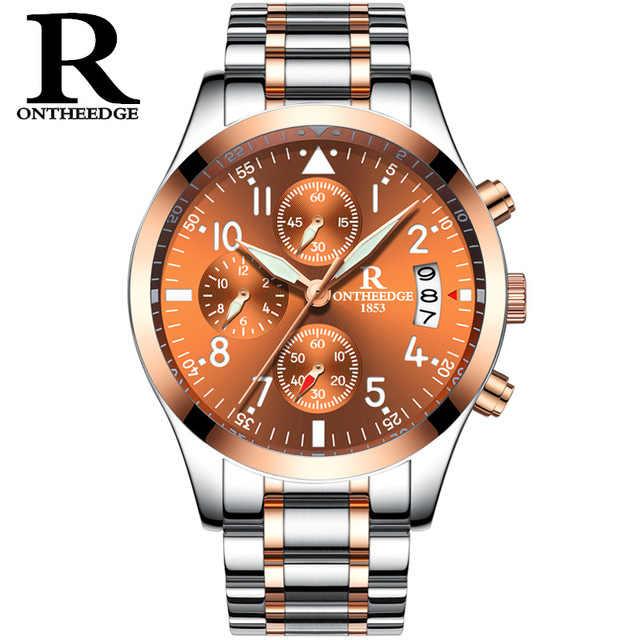 Zegarki Meskie nouveau luxe affaires montres hommes mode calendrier lumineux Quartz montre décontracté en acier inoxydable étanche Chasy