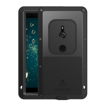 For Sony Xperia XZ2 Case Shockproof Aluminum Metal Full Body Heavy Duty Protective Armor For Sony XZ2 Compact Case Gorilla Glass
