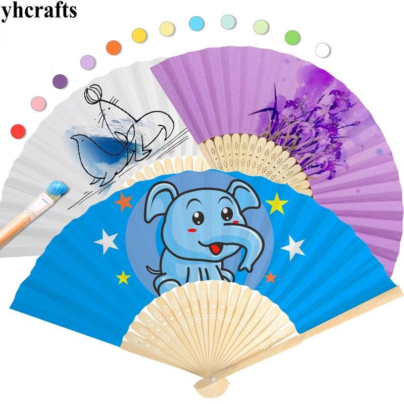 5 шт./lot.11 цвет выбрать, Краски Незаконченный бумаги вентилятор летом игрушки раннего обучения Развивающие игрушки Детский Сад искусств и ре...