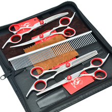 Meisha 6 inch Professional Japan 440c Pet Grooming Scissors Set Straight Thinning Curved Shears for Haircut Dog HB0001 meisha 7 inch professional pet dog grooming styling scissors japan 440c cutting thinning curved shears for haircut hb0054