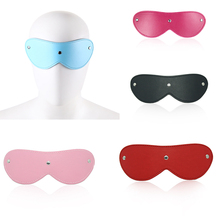 Sexy Toy Leather Blindfold Adult Games BDSM Flirt Eye Mask Sleeping Masquerade Cat Sex Party Club Cosplay Exotic Accessories