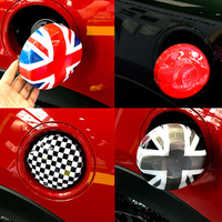 ABS Union Jack Flag Fuel Tank Cap Cover Sticker Case Decoration For BMW MINI Cooper S